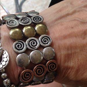 Cute multi color stretch bracelet